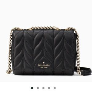 Kate spade black quilted chain bag